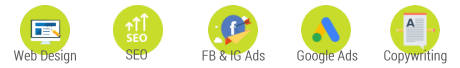 Web Design, SEO, Google Ads, Facebook & Instagram Ads, Copywriting